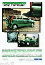 PUBLICITE ADVERTISING 096  1996  la Fiat  Punto Star  Portofino & Cannes
