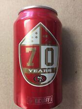 2016 Bud Light NFL Kickoff Can San Francisco 49ers 70 Years! Football Bud Light