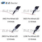 0402 0603 0805 1206 Pre-Wired SMD LED Diodes Micro Mini DIY Toy Model Lights <br/> White Red Blue Green Orange UV Pink Soldered 20cm Wire