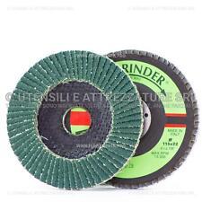 DISCO ABRASIVO LAMELLARE 115mm allo Zirconio con supporto FIBRA Fast Grinder DLF