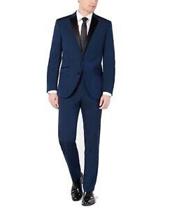 Kenneth Cole Mens Suit Vest Blue Size 40 Slim Fit Techni-Cole Tuxedo $395 #161
