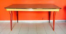 Tavolo table formica verde piedi legno design anni '50 vintage modernariato