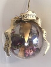 Katherine's Collection Retired Jester Mask Clear Ball Music Notes Ornament Nos