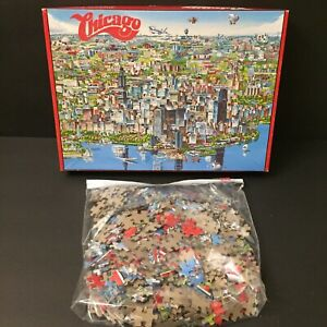 City Of Chicago 1988 Jigsaw Puzzle by Buffalo Games 504 Pieces