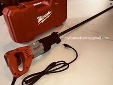 Milwaukee spray foam insulation sawzall w/ adapter and blade