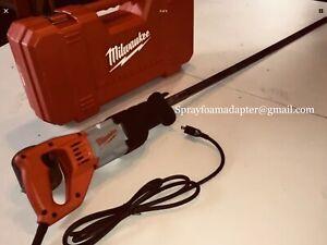 Milwaukee spray foam insulation sawzall w/ adapter and 2 Opencell Saw blades