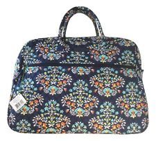 Vera Bradley Grand Traveler Chandelier Floral Navy Interior - NWT - $120 MSRP