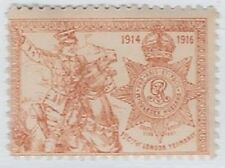 UK Poster stamp: 1914-1916 Middlesex Hussars, 1st City of London Yeomanry -cw31b