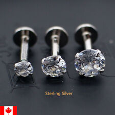 1PC Sterling Silver lip Stud ear bone cartilage tragus Body Piercing punk gift