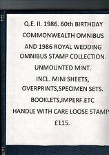 QE. II. 1986. 60th Compleanno & 1986 Matrimonio Reale Collection. un-Nuovo di zecca. ora ridotto