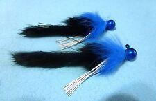 Steelhead Salmon Trout 1/4 Black N' Blue. Twitching Jigs (X2) *