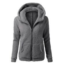 Plus Size Women Thicken Fleece Fur Warm Winter Coat Hooded Parka Jacket/Outwear