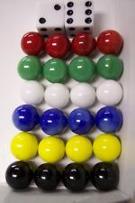 """30 ea 9/16"""" REPLACEMENT CHINESE CHECKER MARBLES & 2 DICE WAHOO AGGRAVATION GAME"""