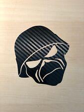 Kopf Sticker  - AUFKLEBER AUTO TATTOO - ca. 16cm X 9cm - Schwarz Carbon Folien