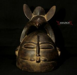 Oustanding Senufo Helmet Mask - NOO - Cote d'Ivoire / Ivory Coast