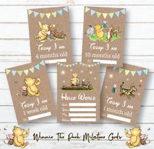 Winnie The Pooh Baby Milestone Cards • Baby Shower Gift • New Baby Gift • Boy