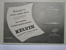1/1946 PUB KELVIN AIRCRAFT INSTRUMENTS AIRSPEED INDICATOR METEOR RECORD AD