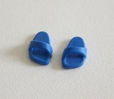 PLAYMOBIL (0518) PIEDS - Paire de Sandales Chaussons Bleu Foncé Souple Adulte