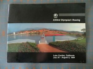 1984 Los Angeles Olympic Games Rowing Program  8 1/2 x 11 inch