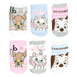 Disney Socks for Baby Girls 0-12 Months - 6 Pairs