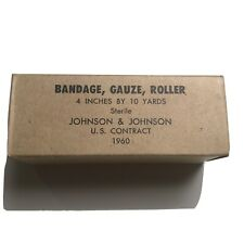 US Army Medical Supplies Johnson & Johnson 1960 US Contract Bandage Gauze Roller