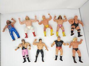 Vintage 1980's WWF Wrestling Figures LJN Titan Sports Rubber Wrestler Lot of 8