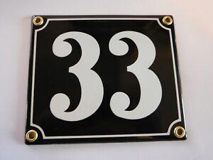 Berlin Black and White Enamel Porcelain House Door Number Street Sign / Plate 29