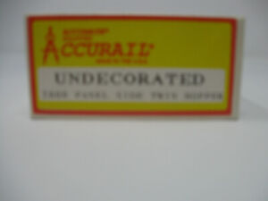 ACCURAIL # 2800 PANEL SIDE TWIN HOPPER UNDECORATED NIB