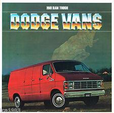 1981 Dodge VAN Brochure w/ Color Chart : B150,B250,B350,MAXIVAN,B-150,250,350
