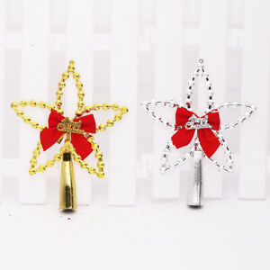 1x Christmas Tree Top Five-pointed Star Hang Decoration Xmas Tree Home Ornament