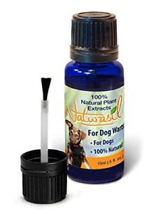 Naturasil Dog Warts Removal Treatment, 100% Natural, No Acids, Animal Safe, 15ml