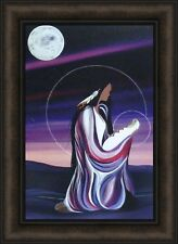 DECEMBER MOON by Betty Albert 16x22 FRAMED PRINT Native American Mother Baby HCD
