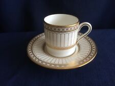 Wedgwood Colonnade Gold (W4339) small coffee can & saucer