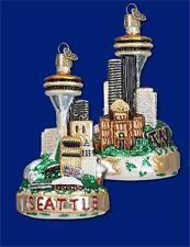 SEATTLE WASHINGTON SKYLINE OLD WORLD CHRISTMAS GLASS CITY ORNAMENT NWT 20065