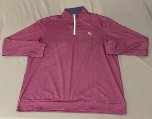 Rhoback 1/2 Zip Golf Pullover (L, Purple, Geometric)