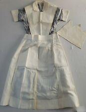 Vintage 1940s-50s Mid Century d' Armigene Blue Pinstripe Nurse Uniform