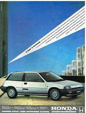 Publicité Advertising 1984 Honda Civic