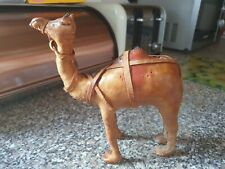 More details for vintage leather camel figurine