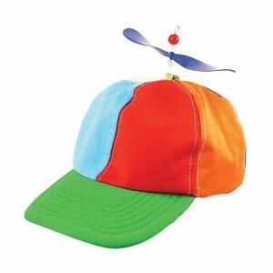 Rainbow Helicopter Hat - Tweedle Dee Dum Pride Fancy Dress Nerd Propeller Cap