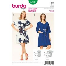 Burda Style Super Easy SEWING PATTERN 6732 Misses Dress 10-20