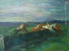 Marcel Cosson (1878-1956) huile sur panneau Chevaux(v)