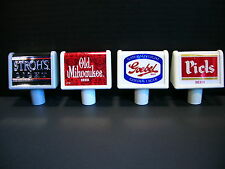 Goebel Peils Strohs and Old Milwaukee NOS Beer Tap Handles Tappers Shorties