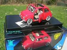 SOLIDO 1/18 METAL FIAT 500 1960 Decouvrable Rouge 1/16!!!!!!!!!!!!!!!!!