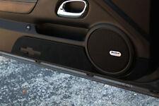 2010-2014 Chevrolet Camaro Billet Door Kick Plate Bowtie Logo Black