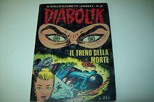 DIABOLIK-PRIMA SERIE ORIGINALE INEDITO-ANNO XV-N. 19-IL TRENO DELLA MORTE
