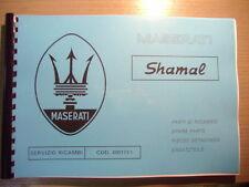 SPARE PARTS MANUAL MASERATI SHAMAL catalogo parti di ricambio parti di ricambi RAR