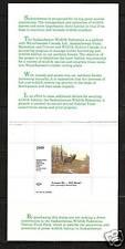 CANADA SASKATCHEWAN, # SAS-2 WILDLIFE CONSERVATION BOOKLET 1989 BULL MOOSE