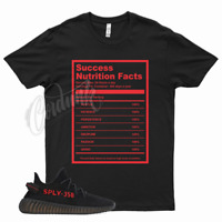 Black SUCCESS T Shirt match Yeezy Boost v2 Bred 11 Fire Gym Red 4 Flu Game 12