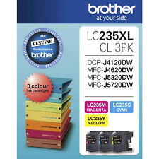 GENUINE Original Brother LC235XL 3 Colours Value Pack Ink Cartridge LC235XLCL3PK