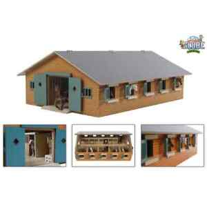 Kids Globe Stables Horse Shed 1:32 Children Play Centre Wood Toy Playset 610544